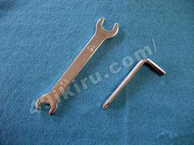 afb7014 工具(スパナと六角レンチ+プラスドライバー)
