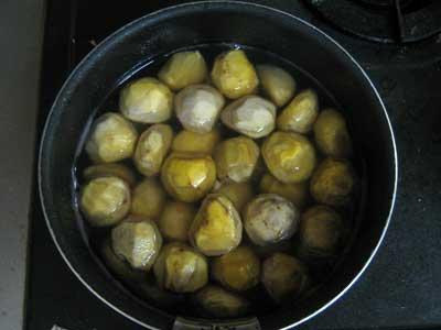 栗の甘露煮 完成1