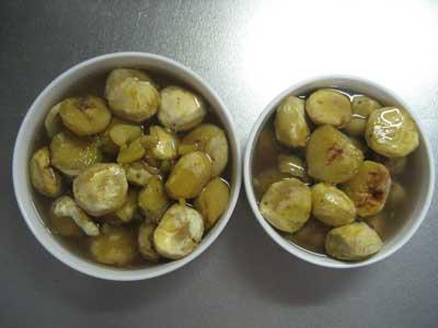 栗の保存食「甘露煮」完成2