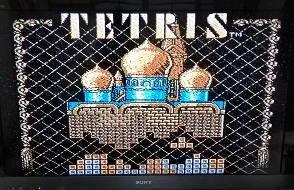 ファミコン版テトリス画面